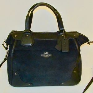 6bf0b1618788 Coach Bags - Coach Mickie Satchel ~ Midnight Blue Suede